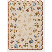 Outdoor Escape Sand Coral Dive Rug