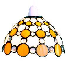 <strong>Loxton Lighting</strong> Tiffany Bistro 1 Light Dome Large Circles Shade