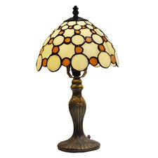 Tiffany Bistro 1 Light Small Circles Table Lamp