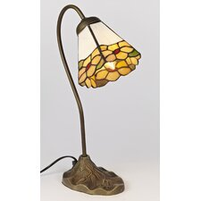 Swan Neck 1 Light Tiffany Table Lamp