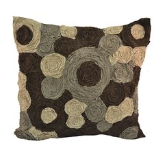Rouched Circles Square Pillow