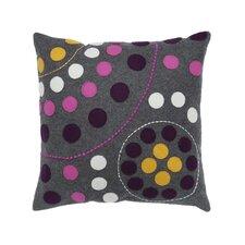Multi Circle Felt Square Pillow