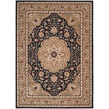 <strong>Shaw Rugs</strong> Arabesque Easton Cannon Black/Tan Rug