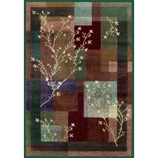Impressions Painted Willow Teal Multi Rug