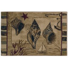 Reflections Three Shells Novelty Rug