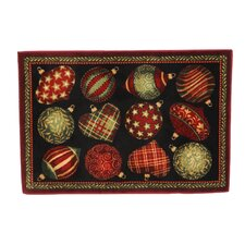 Home for the Holidays Ornaments Novelty Rug