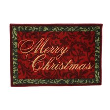 Home for the Holidays Merry Christmas Novelty Rug