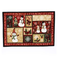 Home for the Holidays Let It Snow Novelty Rug