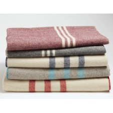Striped Throw Wool Blanket