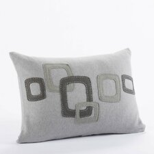 Layered Frame Wool Decorative Pillow