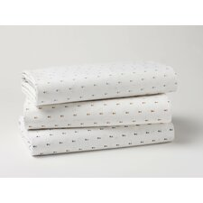 <strong>Coyuchi</strong> Double Diamond Printed 220 Thread Count Sheet Set