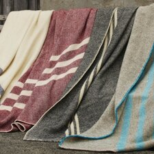 <strong>Coyuchi</strong> Striped Throw Wool Blanket