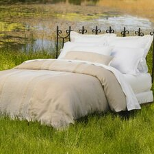 Labyrinth Embroidered Linen Duvet Collection