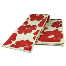 MUmodern Towel in Red Poppy (Set of 2)