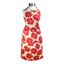 "<strong>MU Kitchen</strong> MUincotton 27"" x 35"" Full Apron in Red Poppy"