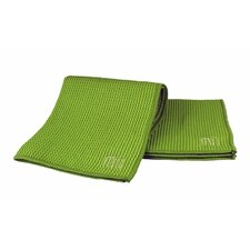 "<strong>MU Kitchen</strong> MUmodern Waffle 12"" x 12"" Microfiber Dish Cloth in Grass (Set of 3)"