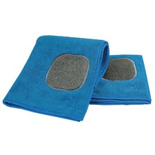 MUmodern Dish Cloth and Towel in Indigo (Set of 2)