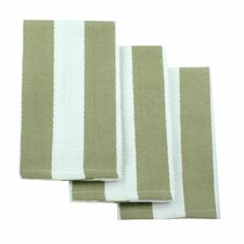 <strong>MU Kitchen</strong> MUincotton Dish Cloth in Sand Stripe (Set of 3)