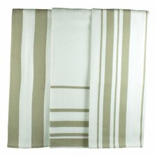 <strong>MU Kitchen</strong> MUincotton Dish Towel in Sand Stripe (Set of 3)