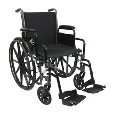 "Height Adjustable 27"" Lightweight Wheelchair"