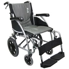 Ergonomic Ultralight Transport Wheelchair