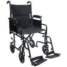Lightweight Transport Wheelchair with Detachable Desk Arms
