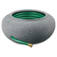 "21"" Garden Hose Pot in Black Granite"