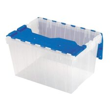 "Keep Box, 12-Gallon, 15""x21-1/2""x12-1/2"", Clear/Blue"