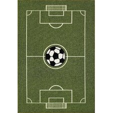 All Stars Soccer Ground Kids Rug