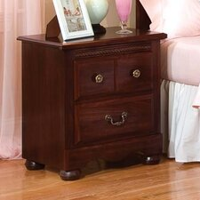Jacqueline 3 Drawer Nightstand
