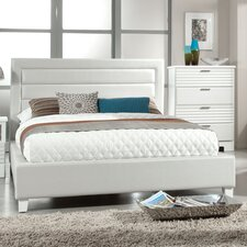 Action Fluted Upholstered Bed
