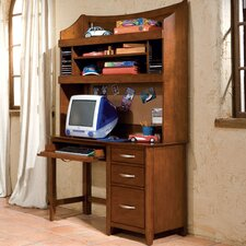 "<strong>Standard Furniture</strong> Village Craft 47"" W Computer Desk and Hutch Set"