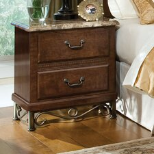 Santa Cruz 2 Drawer Nightstand