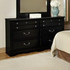 <strong>Standard Furniture</strong> Madera with Marble Top 6 Drawer Dresser