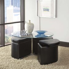 <strong>Standard Furniture</strong> Cosmos Coffee Table with Ottoman (Set of 4)