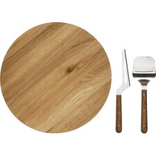 3 Piece Oval Oak Lazy Susan Set