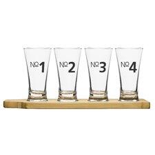 4 Piece Bar Beer Tasting Set