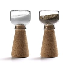 Pearl 2 Piece Cork Salt and Pepper Shaker Set