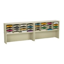 32 Pocket Mail Sorter with Closed Riser