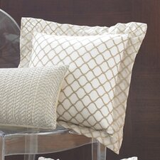 Ina Scallop Silk Organza Decorative Pillow