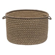 Natural Wool Houndstooth Utility Basket
