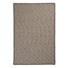 Natural Wool Houndstooth Latte Braided Rug