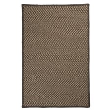 Natural Wool Houndstooth Braided Caramel Area Rug