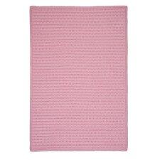 Simply Home Light Pink Solid Indoor/Outdoor Area Rug