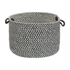 Outdoor Houndstooth Tweed Utility Basket