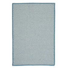 Outdoor Houndstooth Tweed Sea Blue Rug