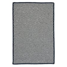 Outdoor Houndstooth Tweed Navy Rug