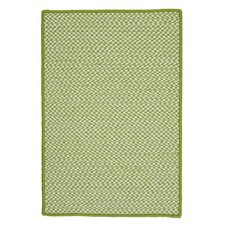 Outdoor Houndstooth Tweed Lime Rug