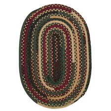 Market Mix Oval Winter Area Rug