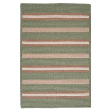Salisbury Green Striped Rug
